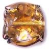 Glass Lamp Bead 18mm Round Flat Cut Topaz/Bronze
